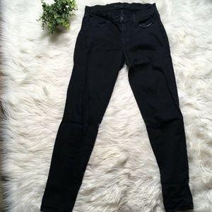 J Brand Women Size 28 Black Super Skinny Slim Deni